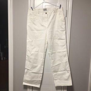 🇨🇦 Zacks White Cotton Women's Pants 14P